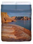 Weathering Pit Ridge Sunset Duvet Cover