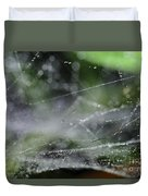 Web After Rain 2 Duvet Cover
