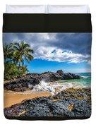 Wedding Beach Duvet Cover