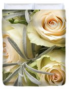 Wedding Flowers Duvet Cover by Wim Lanclus