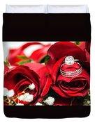 Wedding Rings Duvet Cover