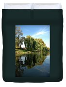 Weepin Willows Frankenmuth Cass River Duvet Cover