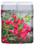 Weigela Florida Red Prince Duvet Cover