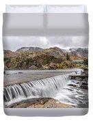 Weirs Rapids Snowdonia Duvet Cover
