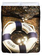 Welcome Aboard Nautical Paradise Duvet Cover