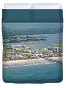 Welcome Aboard Surf City Topsail Island Duvet Cover