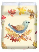 Welcome Back Autumn Duvet Cover