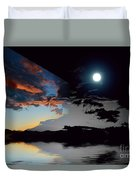 Welcome Beach Day And Night 2 Duvet Cover