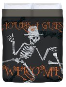 Welcome Ghoulish Guests Duvet Cover