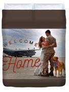 Welcome Home Duvet Cover by Kathy Tarochione