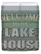 Welcome Lake House Duvet Cover