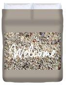Welcome Seashell Background Duvet Cover