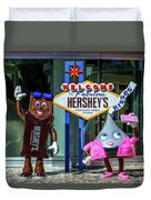 Welcome To Fabulous Hersheys Sign Duvet Cover