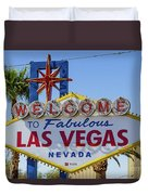 Welcome To Las Vegas Duvet Cover