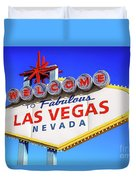 Welcome To Las Vegas Sign Only Boulder Highway Day Duvet Cover