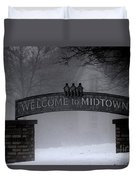 Welcome To Midtown Duvet Cover
