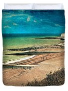 Welcome To Saltdean An Imaginary Postcard Duvet Cover