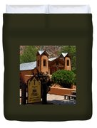 Welcome To Santuario De Chimayo Duvet Cover