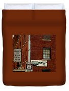 Welcome To The Main Street Of America Duvet Cover