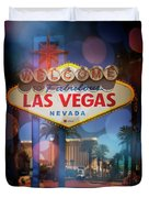 Welcome To Vegas Xii Duvet Cover