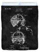 Welding Goggles Patent Duvet Cover