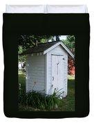 Well Manicured Water Closet Duvet Cover