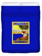 Wellcome To Jamaica Duvet Cover