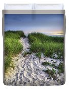 Wellfleet Beach Path Duvet Cover