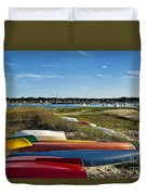 Wellfleet Harbor Cape Cod Duvet Cover