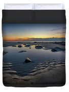 Wells Beach Solitude Duvet Cover