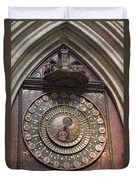Wells Cathedral Astronomical Clock Duvet Cover