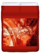 Wells Cathedral Gargoyles Color Negative B Duvet Cover
