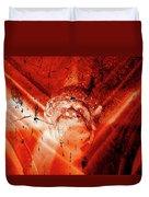 Wells Cathedral Gargoyles Color Negative D Duvet Cover