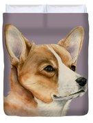 Welsh Corgi Dog Painting Duvet Cover