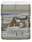 We're Home On The Farm Duvet Cover