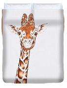 West African Giraffe Duvet Cover