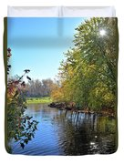 West Branch Iowa River Duvet Cover