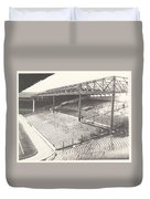 West Bromwich Albion - The Hawthorns - Brummie Road End 1 - Bw - 1960s Duvet Cover