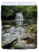 West Burton Falls, Yorkshire, England Duvet Cover
