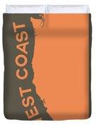 West Coast Pop Art - Crusta Orange On Judge Grey Brown Duvet Cover