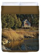 West Falmouth Boathouse Duvet Cover