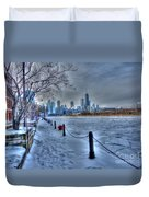 West From Navy Pier Duvet Cover