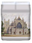 West Front, Exeter Cathedral Duvet Cover
