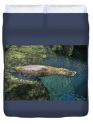 West Indian Manatee Duvet Cover