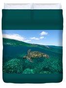 West Maui Green Sea Turtle Duvet Cover