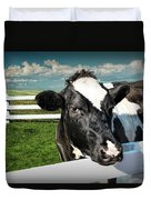 West Michigan Dairy Cow Duvet Cover