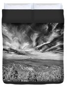 West Of Crater Lake B W Duvet Cover