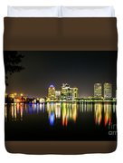 West Palm Beach Downtown Panoramic Duvet Cover