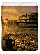 West Pier Splash Duvet Cover