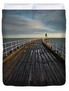 West Pier, Whitby, England Duvet Cover